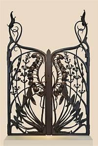 Grille Murale Deco : la d co fer forg 41 id es inspirantes pour votre int rieur ou jardin ~ Teatrodelosmanantiales.com Idées de Décoration