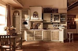 cucina in muratura e legno chiaro With cucine con pareti in mattoncini