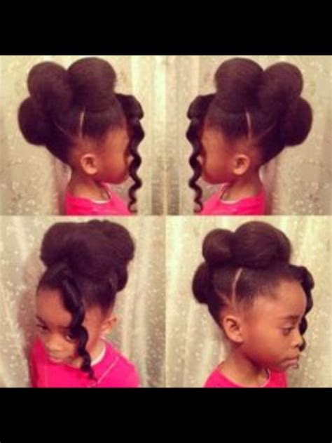 cute puffy buns   ages  black kids