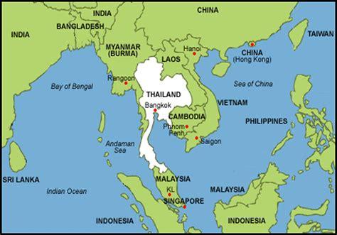 kaart van thailand gebied kaart van thailand en omgeving