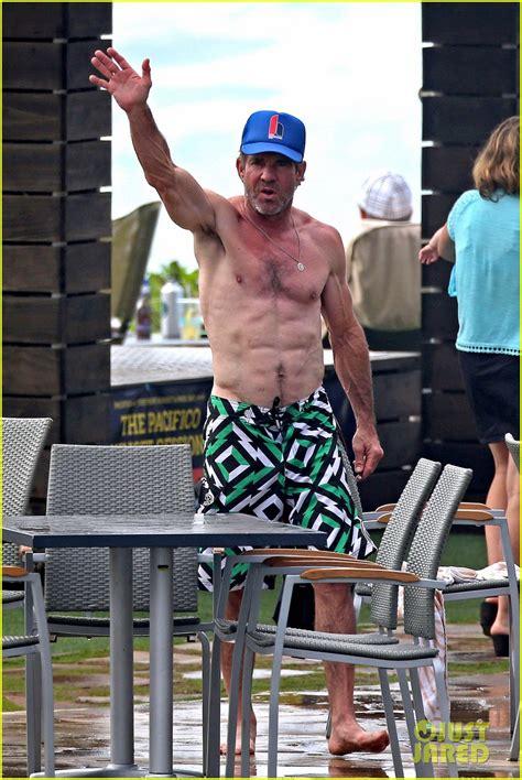 dennis quaid hawaii dennis quaid goes shirtless looks incredibly ripped at 61