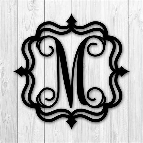 framed metal monogram single letter painted black   walmartcom walmartcom