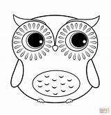 Coloring Owl Cartoon Printable Paper sketch template