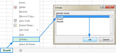 Unhide Worksheet Excel 2010  Kidz Activities