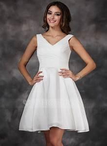 forme princesse col v longueur genou taffeta robe de With forme de robe