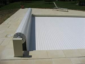 volet roulant hors sol piscine international 8x4 piscine With volet roulant piscine gris