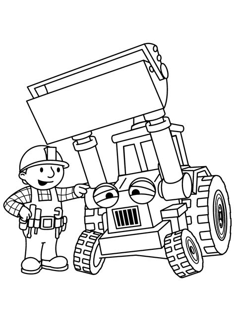 Kleurplaat Bob De Bouwer Mega Machines by Coloring Pages Bob The Builder Animated Images Gifs