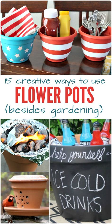 15 Creative Ways To Use Flower Pots (besides Gardening