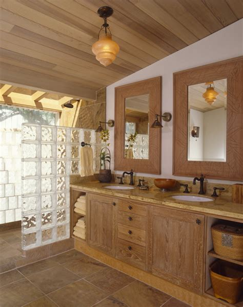 Country Rustic Bathrooms by Kitchen Black Tiles Country Bathroom With Walk Shower