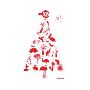 aussie christmas tree tea towel hardtofind