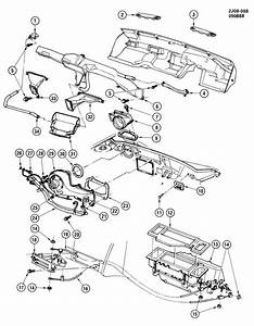 Chevrolet S10 Housing  Air Flow Control  Outside Air