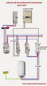 Schema Cablage Tableau Electrique Maison : sch ma electrique contacteur jour nuit branchement d ~ Dailycaller-alerts.com Idées de Décoration