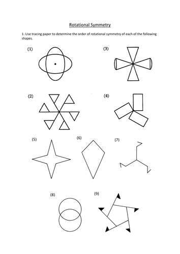 rotational symmetry worksheet by dannytheref teaching resources