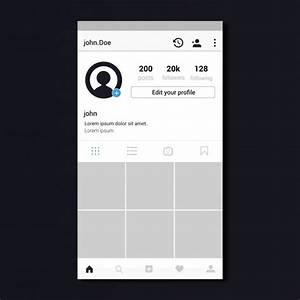 Diseño de plantilla de perfil de Instagram | Descargar ...