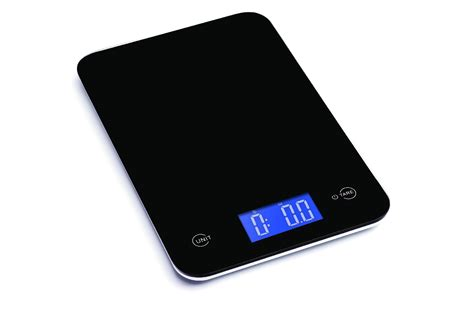 ozeri touch professional digital kitchen scale 18 lb edition tempered glass in black