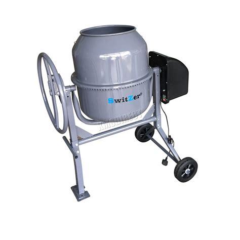 switzer 550w electric concrete cement mixer mortar plaster machine 120l drum ebay