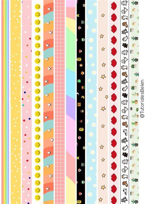 cintas washi tape  imprimir en  libreta de