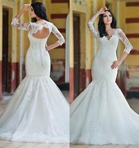 princess vintage lace mermaid style wedding dresses tulle With wedding dress styles for plus size