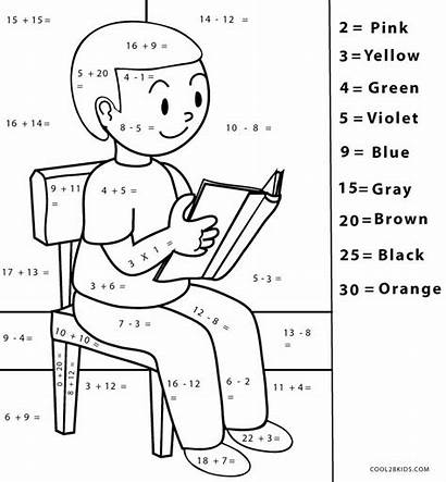 Math Coloring Pages Printable Number Cool2bkids Worksheets