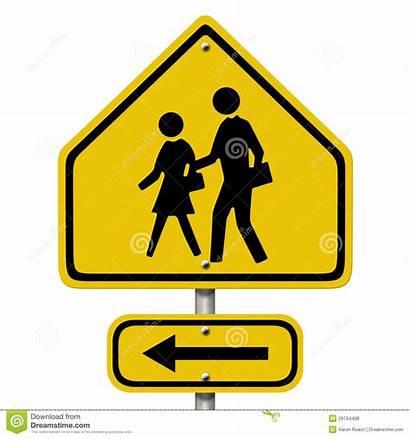Crosswalk Sign Warning Road American Symbols Arrow