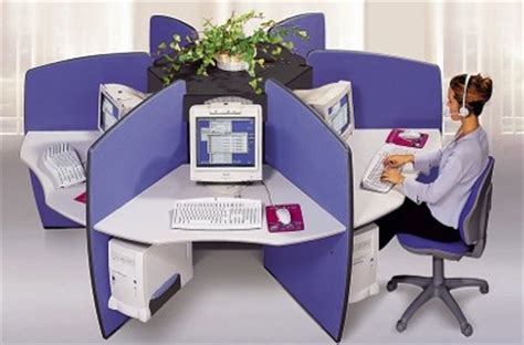 bureau partagé bureau partage forme rosace pour call center