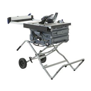 Now, contractor table saw sits right in the middle of these two both in terms of the features and the performance. Kobalt 10-in 15 Amp Table Saw with Folding Stand (KT1015) | Lowe's Canada