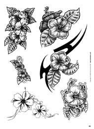 Black And White Hibiscus Flower Tattoos Choosing The Right Tattoo | White flower tattoos, Black