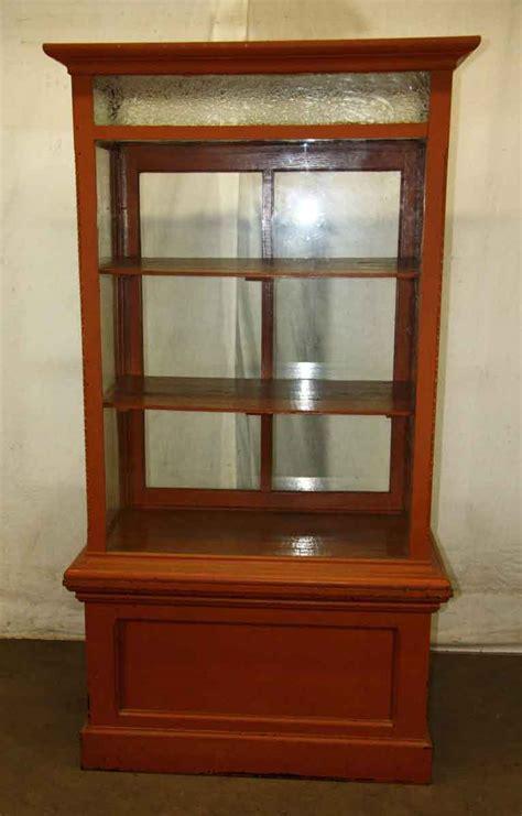 antique glass door cabinet cabinet with one glass door olde things 4087