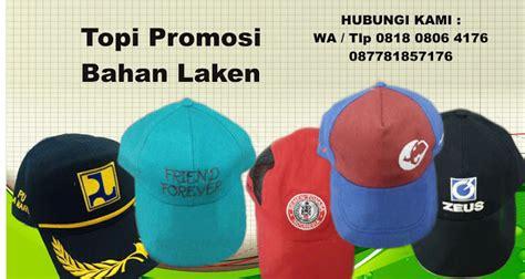 produksi topi promosi bahan laken barang promosi mug