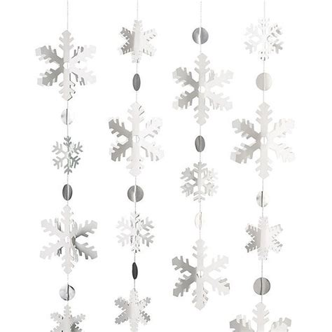 Weihnachtsdeko Fenster Girlande by Weihnachtsdeko Schneeflocken Girlande Bastel Set F 252 R