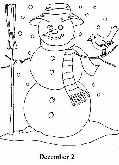 Christmas Countdown Coloring Pages December Days Advent