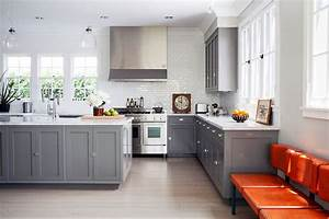 Gray Shaker Kitchen Cabinets - Contemporary - kitchen