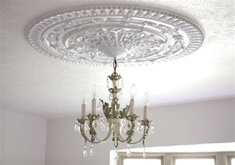 install a ceiling medallion light fixtures