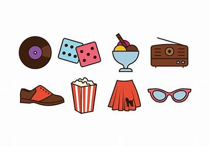 50s Things Icon Vector Thing Pack 1950s