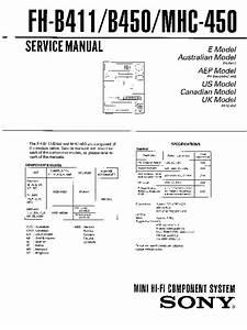 Sony Fh-b411  Fh-b450  Mhc-450 Service Manual