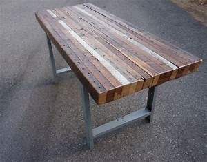 Handmade custom outdoor indoor rustic industrial for Barnwood outdoor table
