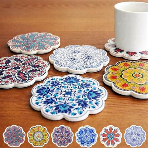 Kitchen Accessories Turkey by Interior Palette Coaster Iznik Iznik Tile Coasters