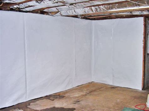 Cleanspace Basement Wall Vapor Barrier System In North