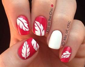 Toe nail art fall 2017 : Autumn leaf nail art designs ideas fall nails