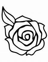 Coloring Roses Pages Rose Printable Flower Flowers Hearts Getcoloringpages Adult sketch template