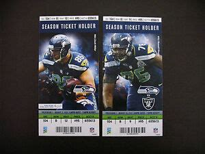 seattle seahawks  nfl ticket stubs  ticket