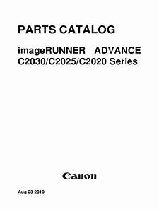 Canon Imagerunner Advance C2030 C2025 C2020 Series Service Parts Catalog Circuit Diagram