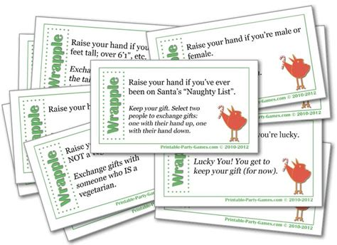 christmas gift games for the office wrapple gift exchange and office printable