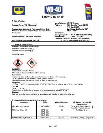 high performance penetrant spray wd 40 company