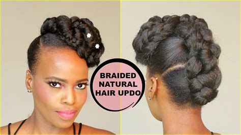 Faux French Braid Updo [natural Hair Tutorial]