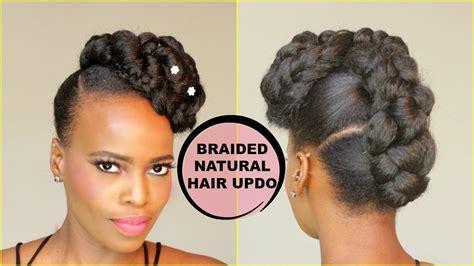 Faux French Braid Updo [natural Hair Tutorial]