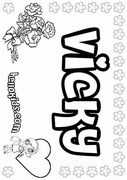 Becky Vicky Coloring Pages Letter Hellokids Names