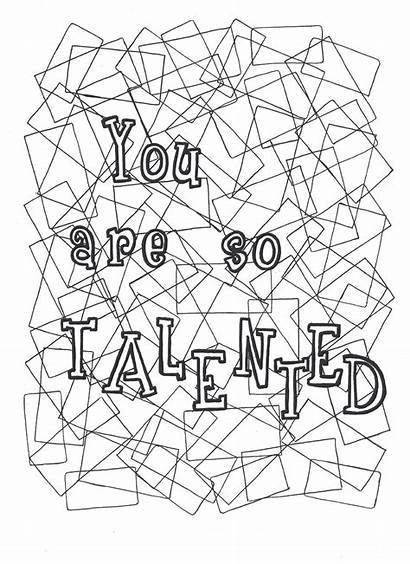 Coloring Pages Self Talented Yourself Colouring Affirmations