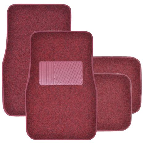 floor mats quality supreme plush 4 piece high quality carpet auto car floor mats solid burgundy ebay