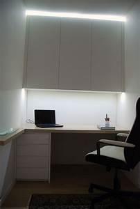 Led Beleuchtung Büro : b ro eiche gekalkt lackiert und schleiflack 9016 mit indirekter led beleuchtung christoph ~ Markanthonyermac.com Haus und Dekorationen